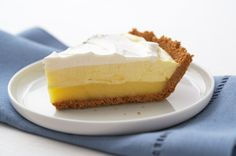 Triple Layer Lemon Pie - great with sugar free/low fat substitutions!