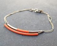 Judith Benita bracelet Tube rouge fluo