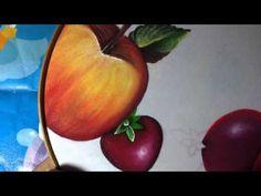Pintura en tela fresas mantel # 7 con cony - YouTube