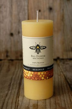 Pure Beeswax Pillars 2 x4.5 Pillar Candles (40 hr) Natural beeswax makes a great toxin free candle (bonus: they usually have a natural soft honey scent!)
