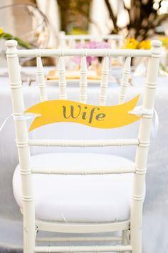 Chaise mariée, mariage en jaune