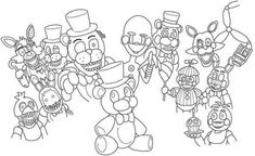 Five Nights At Freddy's, Toy Bonnie, Fnaf Coloring Pages, Fnaf Drawings, Crafts For Kids, Erika, Leo, Projects, Mary