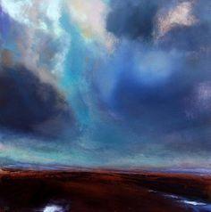 Skyscape over the Irish Midlands #162 by John O' Grady Irish Landscape painting, Ireland For sale