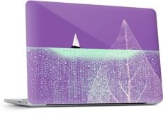 OCEAN WONDERLAND I by Pia Schneider - Laptop - $30.00 #laptop #laptopskin #art #collage #surrealism #nature #landscape #ocean #sea #leaf #structure #plant #sail #sailboat #waterdrops #droplets #radiantorchid #purple #hemlock #piaschneider #ateliercolourvision #modern
