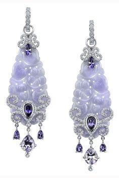 JP: Lavender Jade Earrings