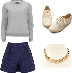 My quilted sweatshirt and jacquard shorts bring all the boys to the yard.   11 Easy And Comfortable Back To School Outfits