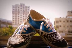 Metallic blue Hand painted canvas shoes  #MetallicBlue #HandPaintedShoes #Canvas #ShoesYourDaddy?