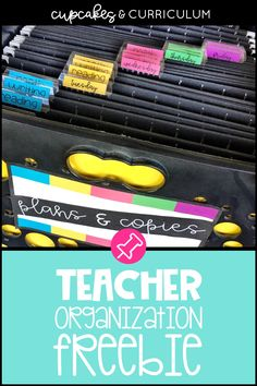 Simple Teacher Organization Hack with FREE Templates is part of Teacher organization - A teacher organization system so your copies have a home, you never are searching for math homework you copied & so you have instant access to info you need! Teacher Organisation, Homework Organization, Teacher Hacks, Organized Teacher, Math Teacher, Teacher Pay Teachers, Organization Ideas, Classroom Labels, Classroom Ideas