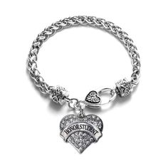 Inspired Silver Twin 1 Carat Classic Silver Plated Heart Clear Crystal Charm Bracelet Jewelry *** We appreciate you for seeing our photograph. (This is our affiliate link) Silver Charm Bracelet, Heart Bracelet, Silver Charms, Braided Bracelets, Link Bracelets, Jewelry Bracelets, Silver Bracelets For Women, Matching Necklaces, Bracelet Making