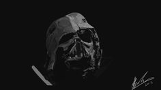 A value study of Darth Vader, taken from the latest Star Wars trailer.
