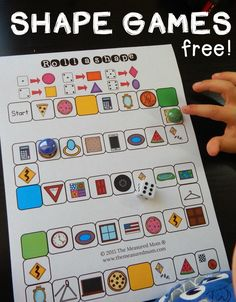 These free shape games for preschool and kindergarten are great for helping kids recognize shapes in everyday objects. You get 3 different games! Fun Math, Math Games, Preschool Activities, Maths, 3d Shapes Activities, Geometry Activities, Preschool Learning, Kindergarten Math, Learning Games