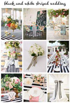 black & white striped wedding, wedding inspiration board
