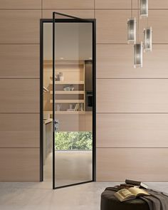 Hinged #glass and aluminium door G-LIKE - GIDEA