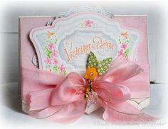 Pastel Violette Vintage Labels card designed by Michele Kovack