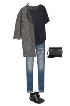 """Untitled #587"" by feryfery ❤ liked on Polyvore featuring Abercrombie & Fitch, Anine Bing, Isabel Marant, H&M and Alexander Wang"