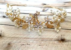 Wedding Hairpiece Wedding Hair Vine Wedding by TheRaggedDiamond