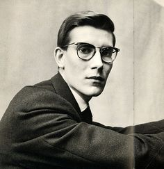 Yves Saint Laurent, 1958. By Irving Penn.