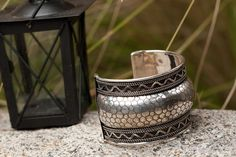 Silver TRIBAL CUFF Vintage Silver Cuff by taneesijewelry on Etsy, $24.99