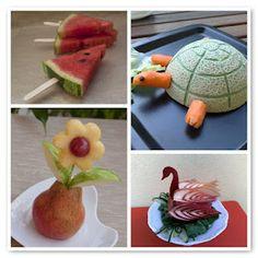 fruit carved so cute. I like simple.
