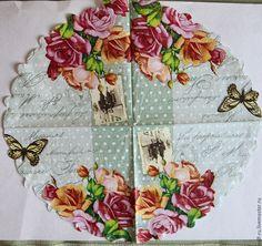 Купить Салфетка Розы и старое фото - комбинированный, розы, винтажные розы, винтажное фото
