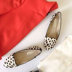 INC 'Galedal' Dalmatian Flats (size 6.5) Worn once. Dalmatian print pony hair flats in size 6.5. Comes with box. INC International Concepts Shoes Flats & Loafers