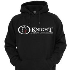 Knight Black Hoodie  - Shop online at www.knightrifles.com