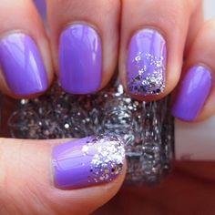 Purple and sparkle