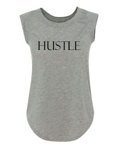 Womens Activewear, Running Shirts. Hustle Inspirational Muscle Tank – Freckled Fit