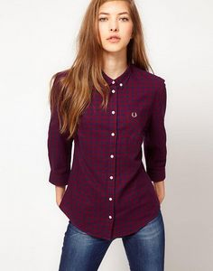 Fred Perry Gingam Shirt With Roll Up Sleeves by Fred Perry