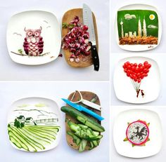 Playing with food as art.