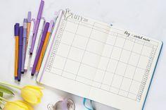 Jak zaplanować miesiąc? bullet journal i planer na luty do pobrania!