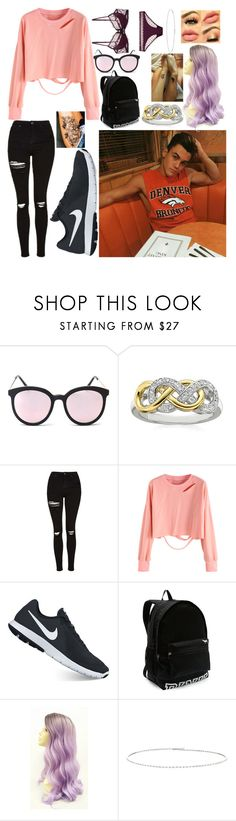 """Casual Dinner // Daisy"" by wattpad-lover-z ❤ liked on Polyvore featuring Topshop, NIKE, Victoria's Secret and Suzanne Kalan"
