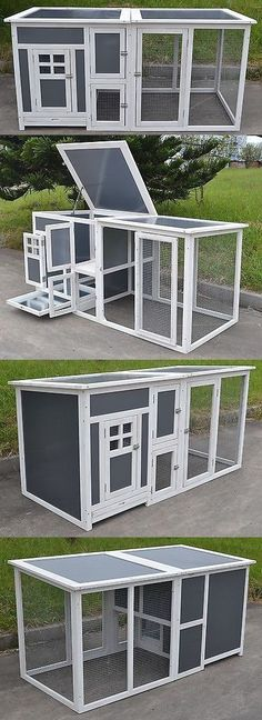 Other Small Animal Supplies 11289: 63 Plastic And Wood Chicken Coop Run Cage Backyard Poultry Hen House Bantam Large BUY IT NOW ONLY: $239.95