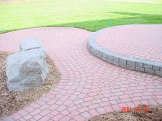 Red Brick Paver Two Tier Patio.