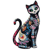 Hand-Painted Sugar Skull Cats By Blake Jensen Figurine Collection
