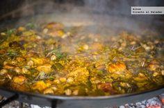 Receta tradicional de paella valenciana #recetas #arroces #paella