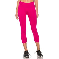 NUX Core Low Rise Capri Activewear ($65) ❤ liked on Polyvore