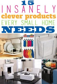 Downsizing is the new big thing! Everyone is trying to live a larger life, in a much smaller space. While it may seem ideal to ditch your extra baggage and run, living in a small space can lead to big problems! In order to combat your loss of square feet, eBay shares fifteen insanely clever solutions that may make your small space seem a lot bigger!