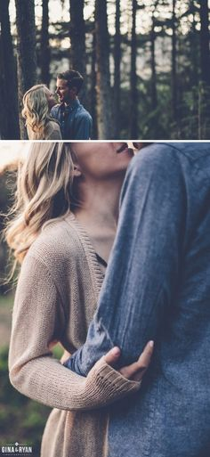 Photoshoot ideas for couples | Woodsy Engagement Session | Engagement Photography