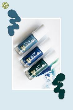 Blauer Himmel, blaues Wasser, blaue Nägel! Es wird sommerlich dieses Jahr! #nagellack #vegan #green #gogreen Go Green, Les Nails, Summer Looks, Nail Polish, Vegan, Blue Nails, Heavens, Nail Polishes, Water