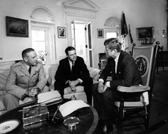 AR8153-A  President Kennedy meets with Chairman of the Joint Chiefs of Staff General Maxwell D. Taylor and Secretary of Defense Robert S. McNamara
