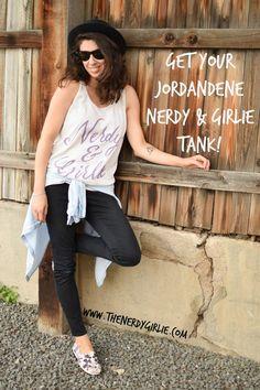 The Nerdy Girlie: NEW Nerdy & Girlie Tanks From Jordandene