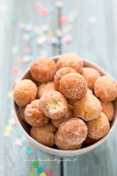 Castagnole (recipe in Italian) - similar to doughnut holes, these are eaten during Carnevale in Italy