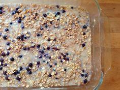 New Nostalgia: Blueberry Banana Oatmeal Breakfast Casserole