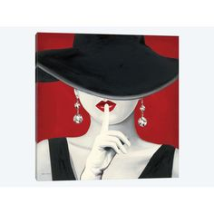 7332f1c360bf8 East Urban Home  Haute Chapeau Rouge  by Marco Fabiano Graphic Art Print on  Wrapped Canvas.