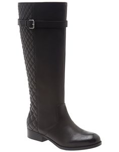 Wide Calf Quilted Riding Boot by Lane Bryant | Lane Bryant .. Size 10 I really want!