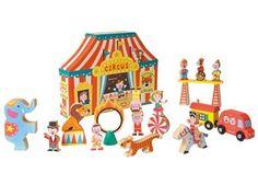 Bunte Story-Box 'Zirkus' aus Holz