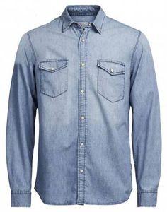 JACK & JONES Men's Long Sleeve Denim Shirt.