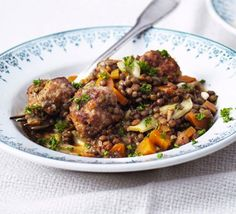 Sausage & fennel meatballs with lentils from BBC Good Food. We think Heck's Fair and Square sausages would be an interesting twist on this delicious recipe.