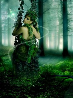 I made this picture out of complete boredom I'm still an amateur. Model - Background - Lady of the Forest Fantasy Forest, Forest Fairy, Fairy Land, Fantasy Art, Fairy Tales, Elves And Fairies, Love Fairy, Deep Forest, Beauty Shots
